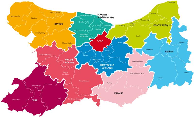 Carte du diocèse de Bayeux