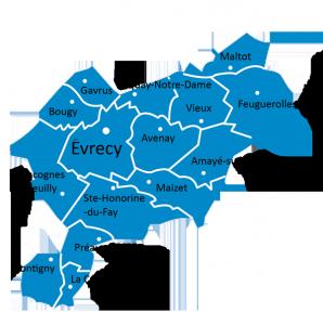 Carte de la paroisse St Gerbold