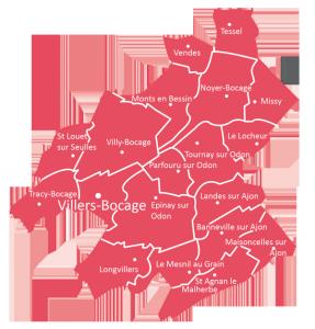 St Michel en pré-bocage - carte de la paroisse