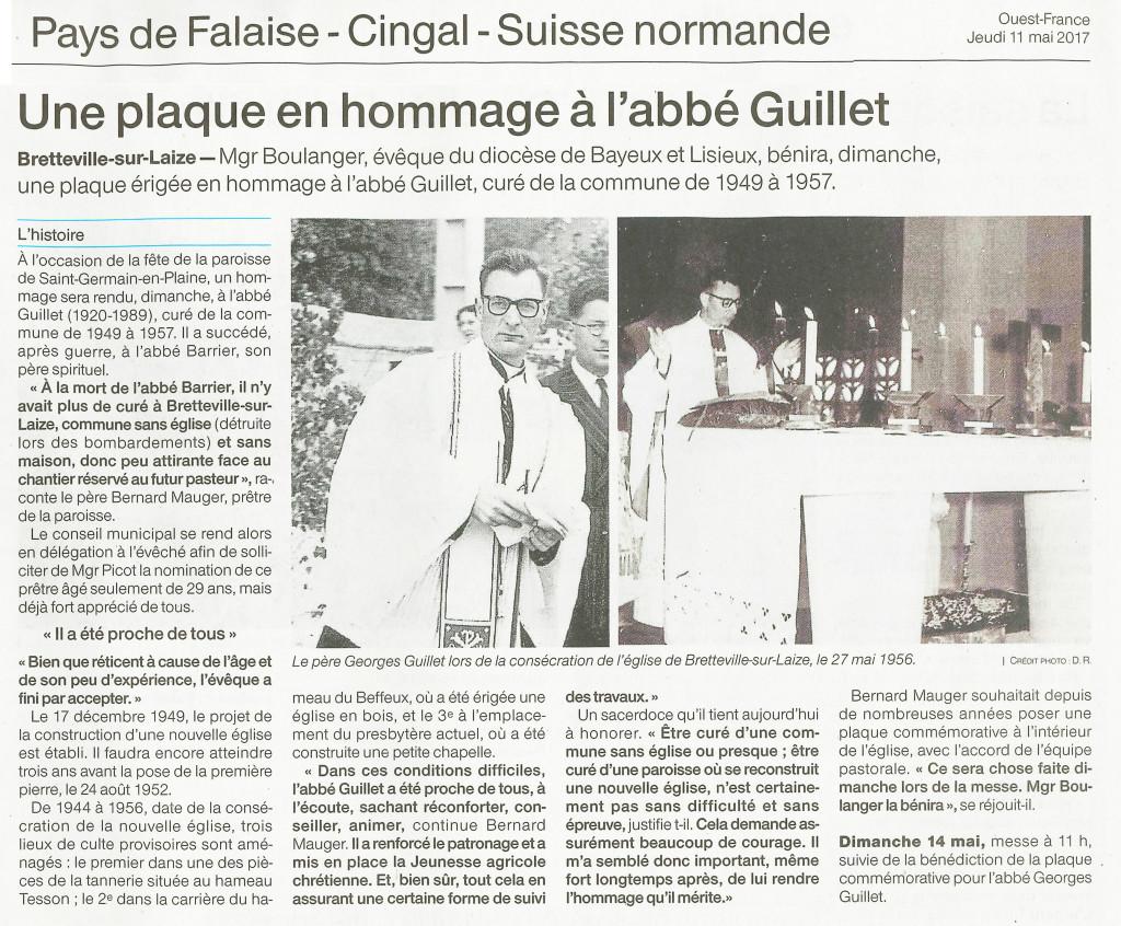 article OF plaque P Guillet