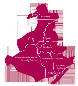 Carte paroisse St jean du bocage