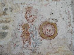 Eglise Saint Symphorien de Cussy - Peinture-murale du XIIème siècle