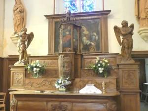 Brucourt Eglise Le maître Autel vu du NE 14 mai 2017