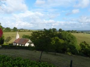 Brucourt L'église vue des Annonciades 10 août 2017