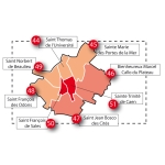 Carte agglomération caennaise