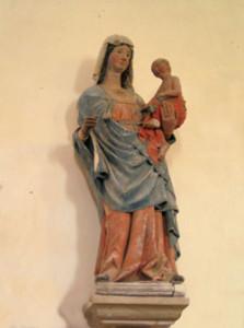 Eglise Saint Germain de Noron la Poterie - Vierge à l'Enfant XVème siècle