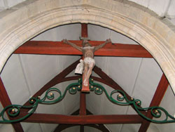 Eglise Saint Martin de Subles - Poutre de gloire