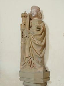 Eglise Saint Pierre de Vienne en Bessin - Statue Sainte Barbe