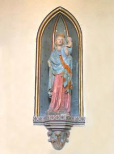 Eglise SainPantaléon d'Esquay sur Seulles - Vierge à l'enfant du XIVème siècle