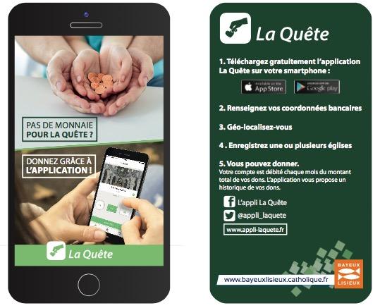 Appli La quête flyer