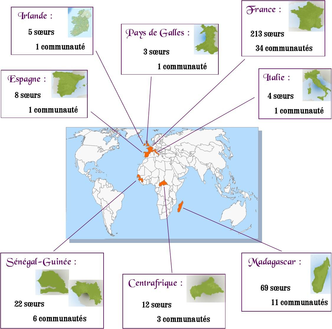 Répartition mondiale